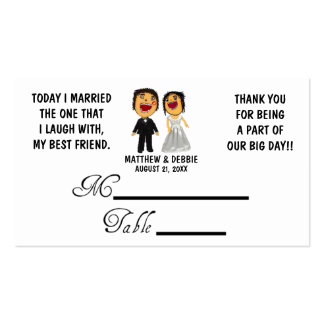 Married My Best Friend Wedding Placecards Pack Of Standard Business Cards