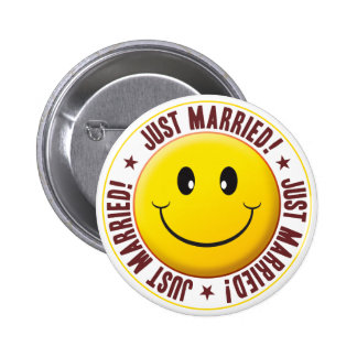 Married Smiley 6 Cm Round Badge