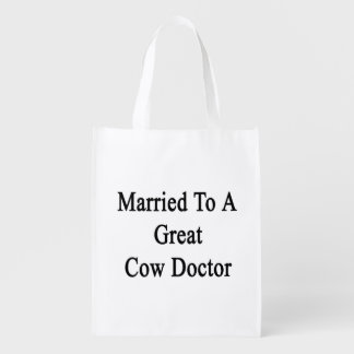 Married To A Great Cow Doctor Market Totes