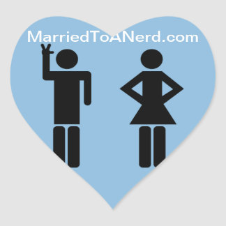 Married To A Nerd Heart Stickers