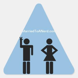 Married To A Nerd Triangle Sticker
