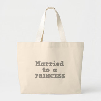 MARRIED TO A PRINCESS TOTE BAGS