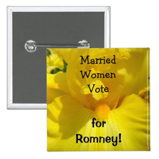 Married Women Vote for Romney buttons Political