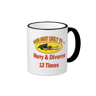 Marry And Divorce Ringer Mug