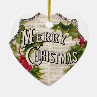 marry christmas ceramic ornament