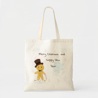 marry Christmas  gingerbread Tote bags