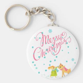 Marry Christmas Key Ring