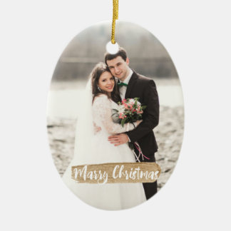 Marry Christmas Newlywed Ornament