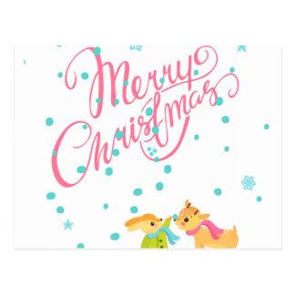Marry Christmas Postcard