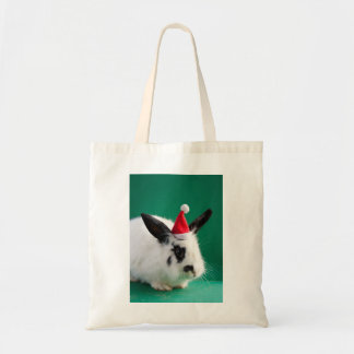Marry Christmas Rabbit Tote Bag