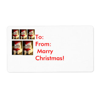 Marry Christmas Shipping Label