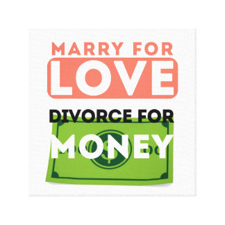 Marry for Love Stretched Canvas Print