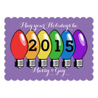 Marry & Gay Lightbulb Christmas Card