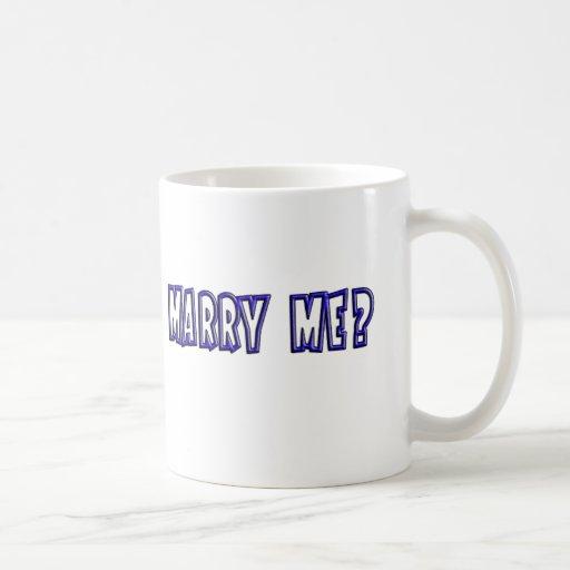 Marry Me? Bluish Proposal Mug