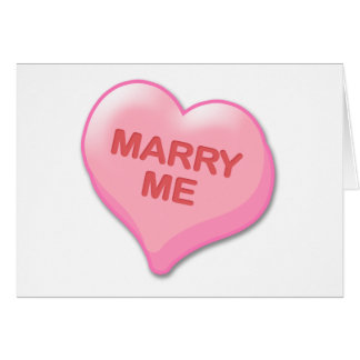 Marry Me Candy Heart Card