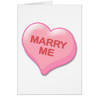 Marry Me Candy Heart Greeting Card