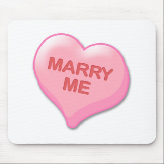 Marry Me Candy Heart Mouse Pad