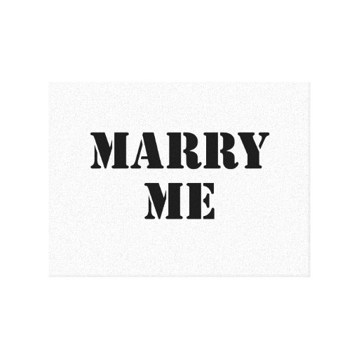 Marry Me Gallery Wrap Canvas