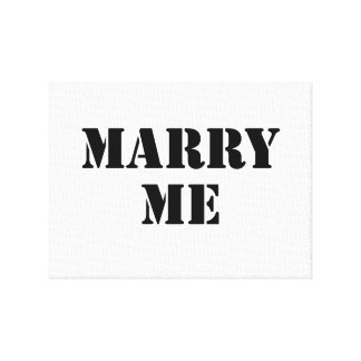 Marry Me Stretched Canvas Prints