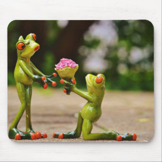 Marry Me cute funny frogs Mouse Pad