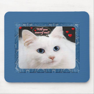 Marry Me Kitty Mousepad