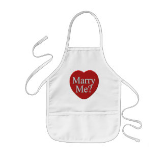 Marry Me Valentines Day T-shirts and Gifts Kids Apron