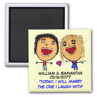 Marry My Best Friend Square Magnet