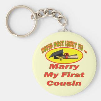Marry My Cousin Key Ring