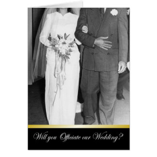 Marry us - Be my Officiant? Card
