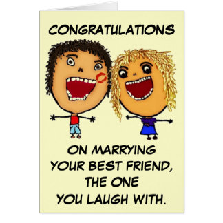Marrying Your Best Friend Cartoon Greeting Card