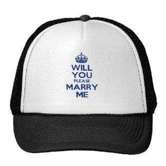 MarryMe Blue on White Cap