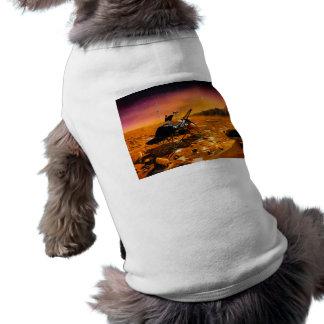 mars-633971 MARS COLONY ORANGE SAND PLANET FANTASY Sleeveless Dog Shirt