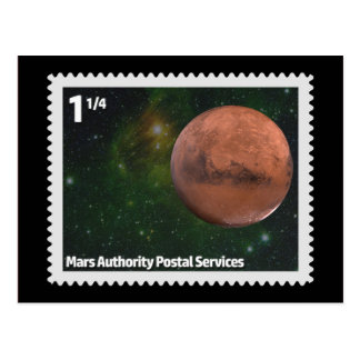 Mars Authority Postal Services Postcard