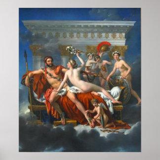 Mars Being Disarmed by Venus Poster