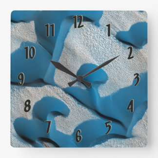 Mars Blue Dunes! Square Wall Clock