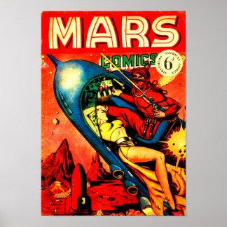 Mars Comics Poster