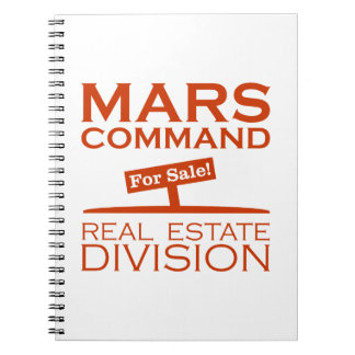 Mars Command Real Estate Division Spiral Notebooks