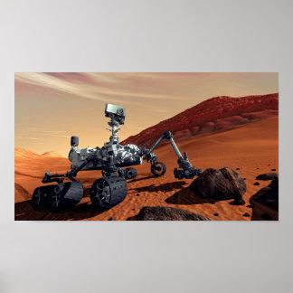 Mars Curiosity Rover - NASA Artist Concept Poster