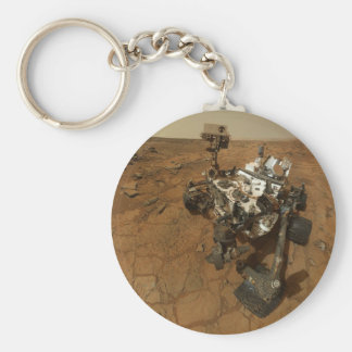 Mars Curiosity Self Portrait Basic Round Button Key Ring