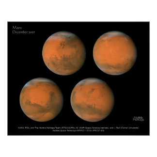 Mars December 2007 Posters