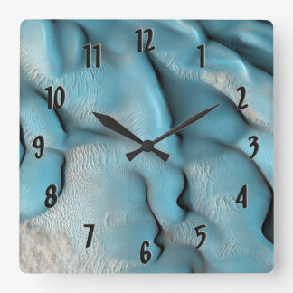 Mars Dunes Square Wall Clock