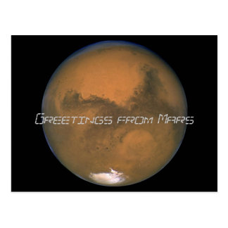 Mars, Greetings from Mars Postcard
