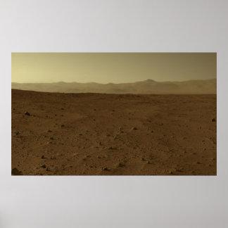 Mars Horizon via Curiosity Rover Poster