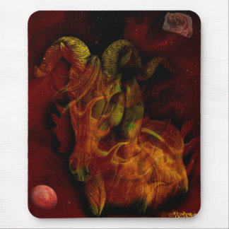 Mars in Aries Mouse Pad