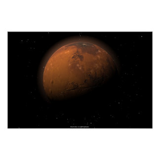 Mars in Partial Shadow Poster