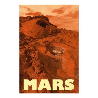 Mars landscape art photo