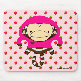 Mars Monkey Strawberries Mousepad - LULU