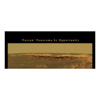 Mars 'Payson' Panorama by Opportunity Poster