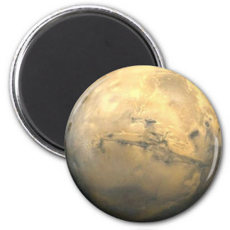 Mars, Planet of the Solar System 6 Cm Round Magnet