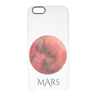 Mars Planet Watercolor Clear Case